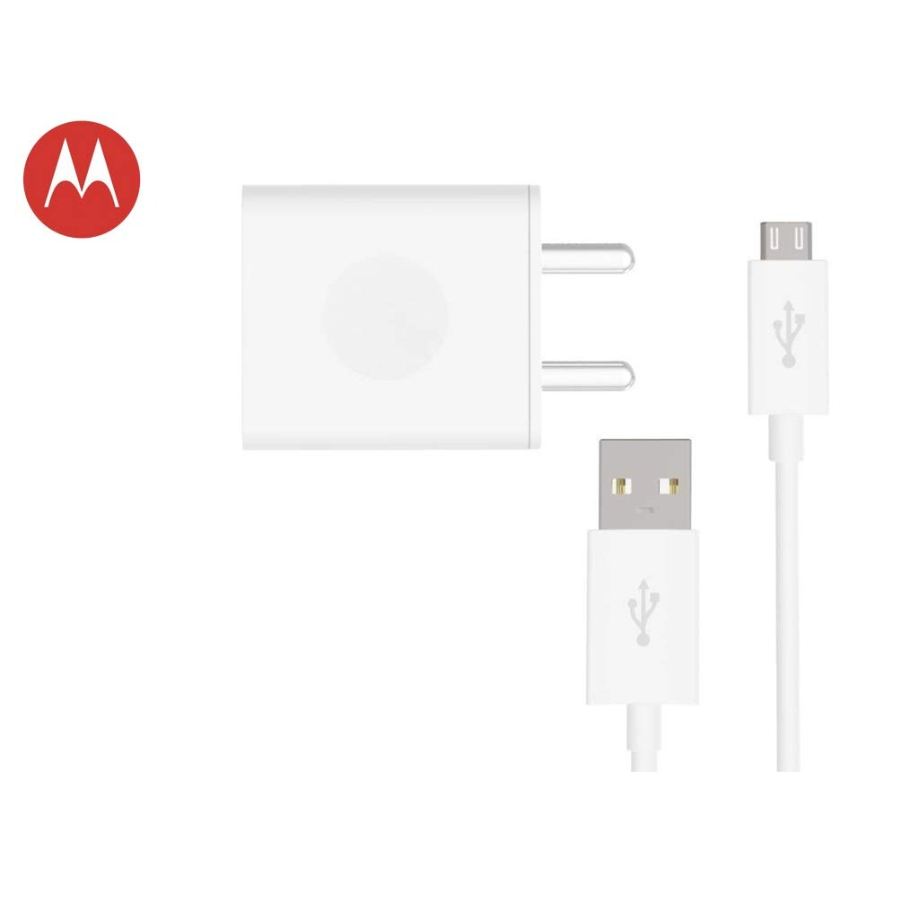 Motorola Micro USB Rapid Charger with Cable White